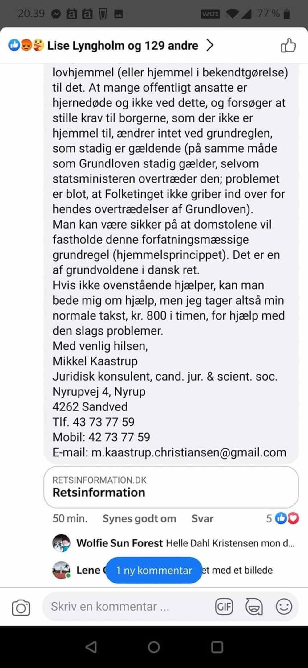 Jurist Kastrup om Covid Test Børn
